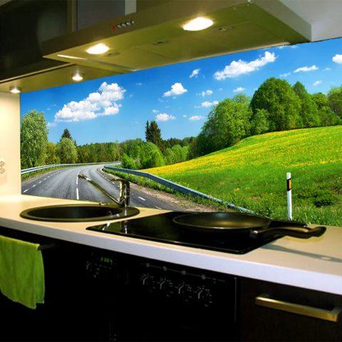 Tủ bếp nhôm kính cẩm lệ