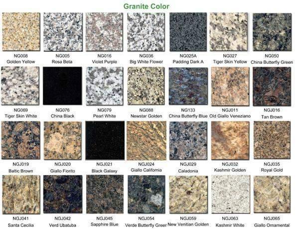 Báo giá đá hoa cương granite Thanh Khê